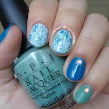 the polish playground blue u0026 green brushstroke nail art with