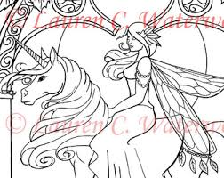 christmas unicorn colouring art printable fantasy