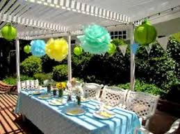 easy outside baby shower decorations ideas