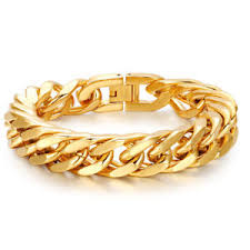 stainless steel gold plated bracelet images 18k gold plated cuban miami chain link stainless steel men womens jpg
