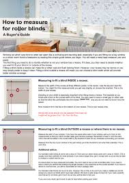 Measuring Window Blinds Buyer U0027s Guide To Measuring For Roller Blinds
