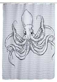 Graphic Shower Curtains by Sea Creations Shower Curtain With Octopus Motif For A Nautical