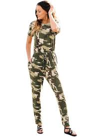 casual jumpsuit camouflage sleeve drawstring casual jumpsuit size us 4 6 s