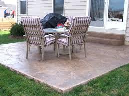Sted Concrete Patio Designs Backyard Cement Patio Ideas Free Home Decor