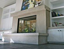 Custom Fireplace Surrounds by Fireplace Surrounds Pictures Gallery The Concrete Network