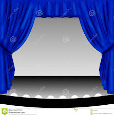 Blue Curtains Blue Stage Curtain Royalty Free Stock Images Image 574329