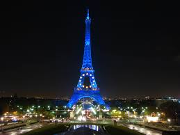 The European Flag The Design Of The Flag Of Europe Displayed On The Eiffel Tower In