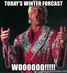 Winter Meme Generator - today s winter forcast woooooo ric flair wooo meme generator