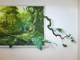 sunlight l for plants trompe l oeil jungle murals jungle mural trompe l oeil sunlight