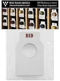 2 sided paper wine bottle tags 50 pack wine racks america