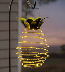 hanging solar lantern decoration pineapple our exclusive