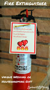most unique wedding gifts extinguisher makes unique wedding or housewarming gift