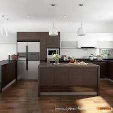 Veneer For Kitchen Cabinets by Op15 Wv03 Modern Wood Veneer Kitchen Cabinet