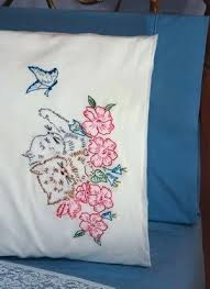 design your own pillowcase pillow designs kitten pillowcase embroidery kit design