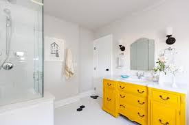 yellow bathroom decorating ideas splendid yellow bathroom ideas pale small tile and gray chevron