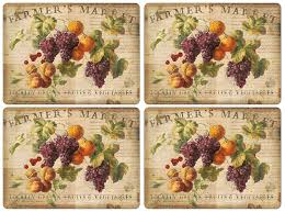 pimpernel abundant fall placemats set of 4 home
