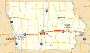 map us iowa u s route 6 in iowa