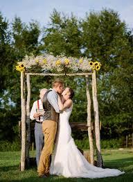 wedding arches decorated with burlap 47 sunflower wedding ideas for 2016 elegantweddinginvites