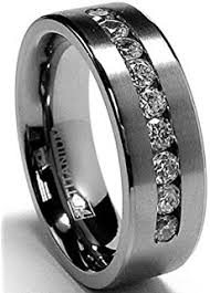 wedding band with engagement ring titanium men s wedding band engagement ring with 9