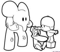 pintar pocoyo spanish coloring pages pocoyo