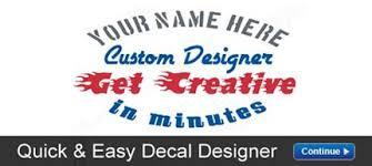 car decals custom stickers vinyl lettering u0026 more