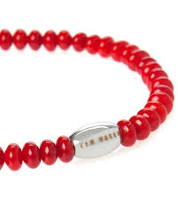 red beads bracelet images Lyst ted baker beaded bracelet in red for men jpeg