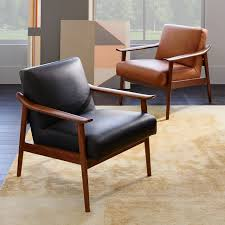 Design Of Wooden Chairs Mid Century Leather Show Wood Chair West Elm