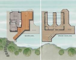 ground dock second level plan boathouse renovation and