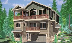 front sloping lot house plans apartments lakefront cottage designs waterfront house plans