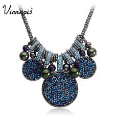 swarovski fashion necklace images Buy viennois large gun color chain necklaces for jpg