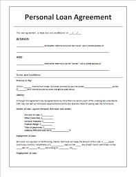 Personal Loan Documents Template 5 loan agreement templates to write agreements