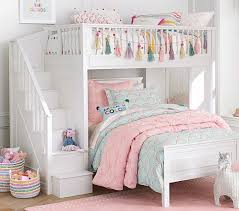 Loft Bed Set Fillmore Stair Loft Bed Lower Bed Set Pottery Barn