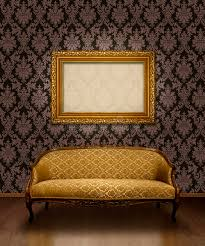 classic sofa and frame stock illustration image of fabric 12239248