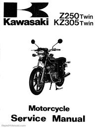 1979 1982 z250 1981 1983 kz305 1983 ex305 1983 er250 kawasaki manual