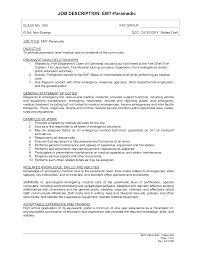 Resume Job Titles by Emt Resume Job Description Resume For Your Job Application