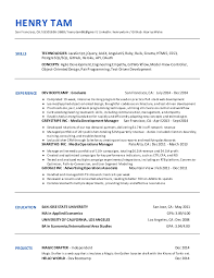Sjsu Resume Resume