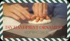 diy handprint ornament vlogmas day 3