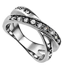 bible verse rings women s radiance beloved ring stainless steel silver
