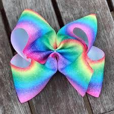 ribbon hair bows jumbo rainbow grosgrain ribbon hair bow bow co