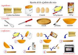 exercice recette de cuisine recette de la galette des rois fle gastronomi