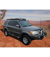 roof rack for toyota sequoia toyota sequoia 01 07 stealth rack multi light setup with