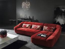 Red Sectional Sofas by Red Microfiber Sectionals Highlight Your Living Room Homesfeed