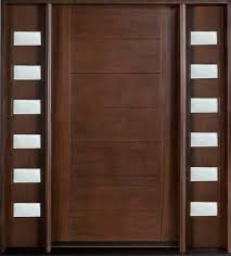 Exterior Wooden Doors With Glass by Espresso Wooden Single Main Door Panel With Doule Sidelite And