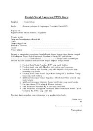 contoh surat lamaran kerja dengan cq surat permohonan cpns