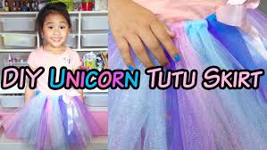 how to make a tulle skirt diy no sew unicorn tutu skirt diywithollie diywithollie