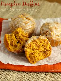 pumpkin foods muffins with caramel glaze plus fodmap foods and spelt