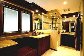 modern master bathroom ideas with glass shower room and mosaic