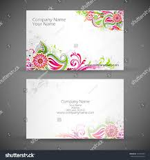 Business Cards Front And Back Illustration Front Back Corporate Business Card Stock Vector