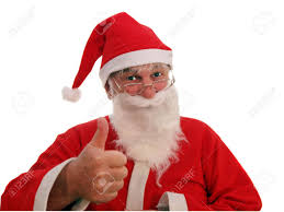 father christmas agreeing to your request stock photo picture and