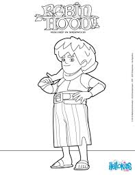 robin hood john mischief sherwood coloring pages